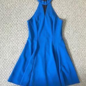 Blue and black mesh dress